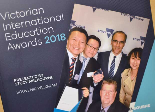 Victorian International Education Award winner 2018