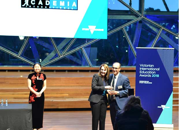 Winner of Excellence in International Education – Victorian Private Education and Training Provider of the Year 2018